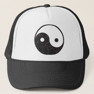 Yin Yang - Distressed Texture Trucker Hat