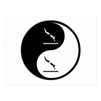 Yin Yang Diving Postcard