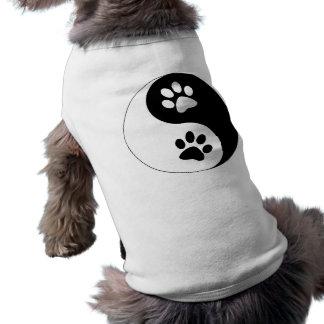 Yin Yang Dog Paws Doggie T-shirt