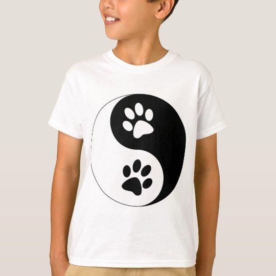 Yin Yang Dog Paws T-Shirt