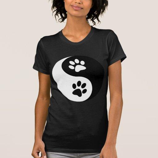 Yin Yang Dog Paws Tee Shirt