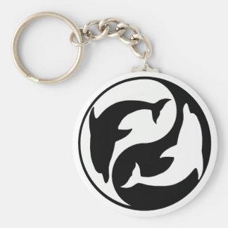 Yin Yang Dolphin Keychain