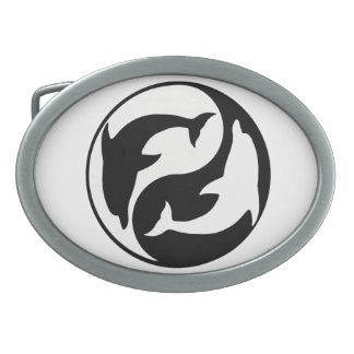 Yin Yang Dolphins Belt Buckle