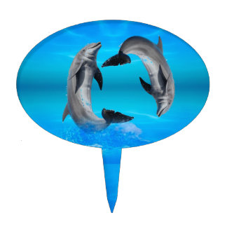 Yin Yang Dolphins Cake Topper