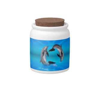 Yin Yang Dolphins Candy Jars