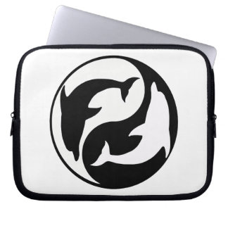 Yin Yang Dolphins Laptop Sleeve