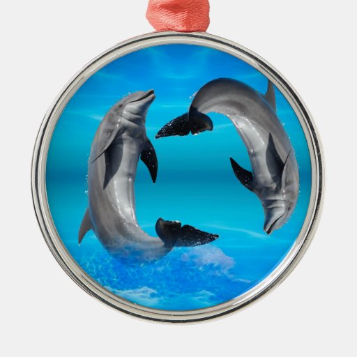 Yin Yang Dolphins Christmas Tree Ornament