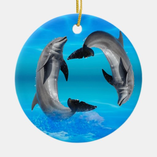 Yin Yang Dolphins Ornaments