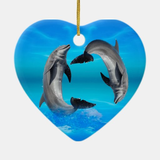 Yin Yang Dolphins Ornament