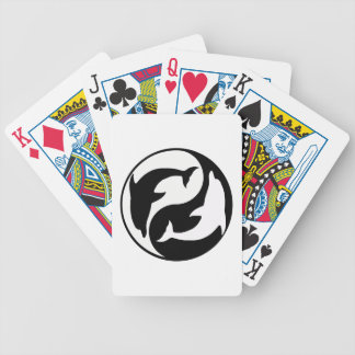 Yin Yang Dolphins Playing Cards