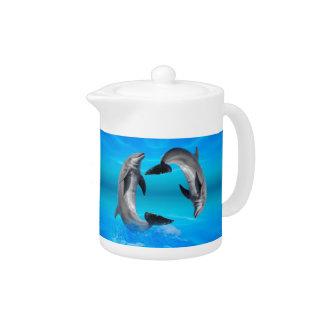 Yin Yang Dolphins Teapot