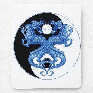 Yin Yang Dragon 2 Mouse Pad
