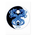 Yin Yang Dragon 2 Post Cards