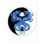 Yin Yang Dragon 2 Postcard