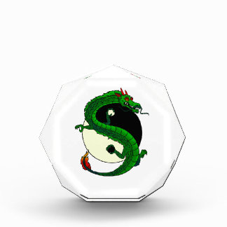 Yin Yang Dragon. Acrylic Award