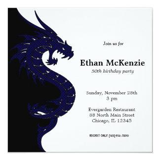 Yin Yang Dragon birthday theme Card