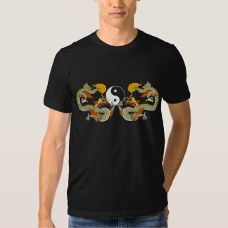 Yin Yang Dragon Black T-Shirt
