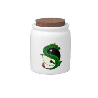 Yin Yang Dragon. Candy Jar
