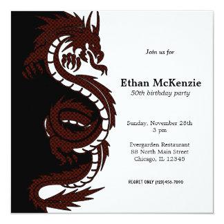 Yin Yang Dragon Card