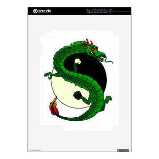 Yin Yang Dragon. iPad 2 Decal