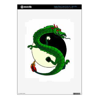 Yin Yang Dragon. iPad 3 Skin