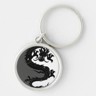Yin Yang Dragon Keychain