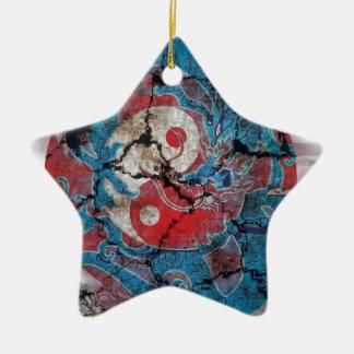 Yin Yang Dragon Life Ceramic Ornament
