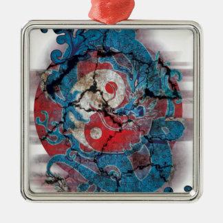 Yin Yang Dragon Life Metal Ornament