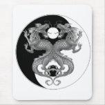 Yin Yang Dragon Mouse Pad