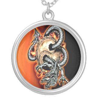 Yin Yang Dragon Necklace