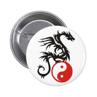 Yin & Yang Dragon Pinback Button