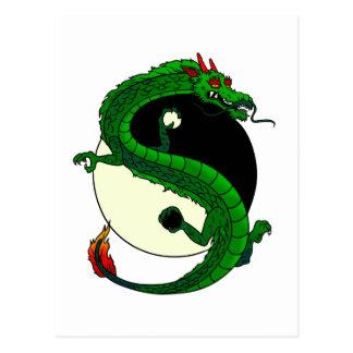 Yin Yang Dragon. Postcard