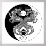 Yin Yang Dragon Print