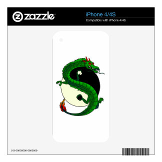 Yin Yang Dragon. Skins For The iPhone 4