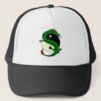 Yin Yang Dragon Trucker Hat