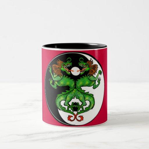 Coffee Maker Yang : Yin Yang Dragon Two-Tone Coffee Mug Zazzle