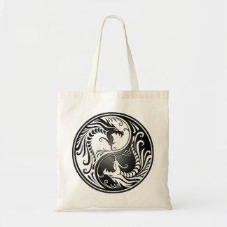 Yin Yang Dragons Canvas Bags