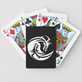 Yin Yang Dragons Bicycle Playing Cards