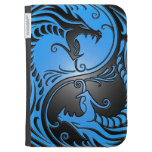 Yin Yang Dragons, blue and black Cases For The Kindle