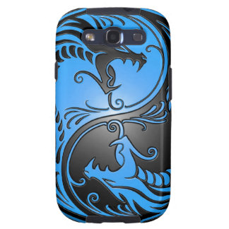 Yin Yang Dragons blue and black Galaxy SIII Cover