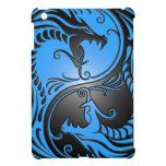 Yin Yang Dragons, blue and black Cover For The iPad Mini