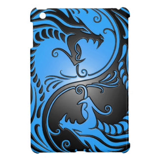 Yin Yang Dragons, blue and black iPad Mini Covers