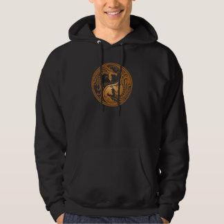 Yin Yang Dragons, brown Hoodie