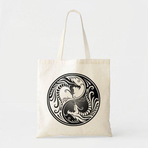 Yin Yang Dragons Budget Tote Bag