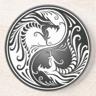 Yin Yang Dragons Beverage Coasters