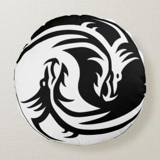 Yin Yang Dragons Cojín Redondo