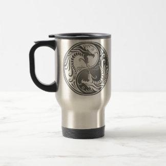 Yin Yang Dragons, dark Travel Mug