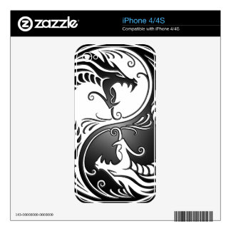 Yin Yang Dragons Decal For The iPhone 4