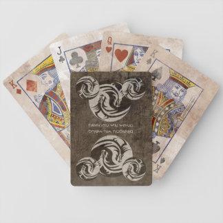 Yin Yang Dragons emblem Bicycle Playing Cards