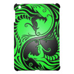 Yin Yang Dragons, green and black iPad Mini Case